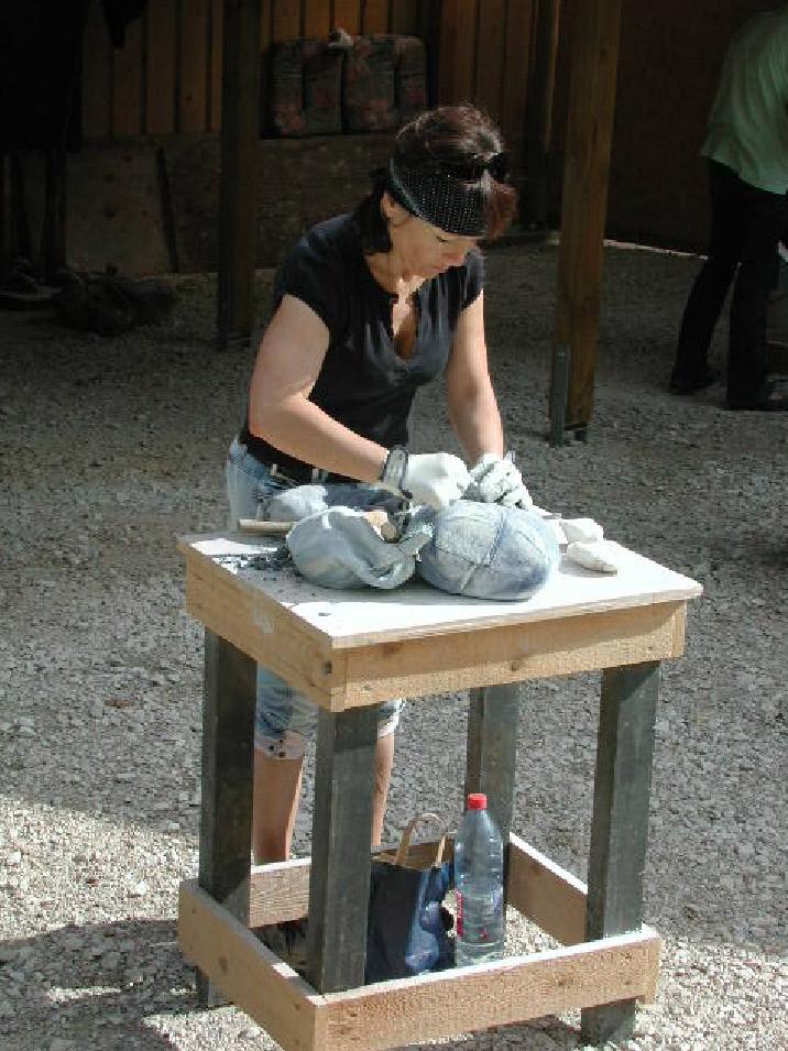 Bildhauen Holz und Stein